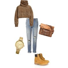 A fashion look from February 2015 featuring H&M sweaters, Whistles jeans and Timberland boots. Browse and shop related looks.