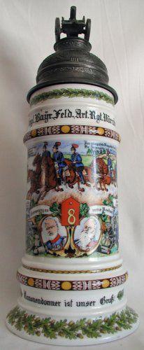 Regimental Beer Stein German Beer Mug, German Beer Steins, Types Of Drinking Glasses, Homemade Beer, Beer Company, Beer Mugs, How To Make Beer, Brewery, Austria
