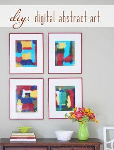 Centsational Girl » Blog Archive Making Digital Abstract Art - Centsational Girl