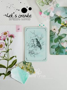 Spring mailbox - ink & papers - Bohème circus