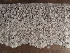 Duchesse Lace trim, handmade, overall in very good condition, there are a few scattered small pinhead rust marks along with one small area of very light discoloration. No signs of breaks or holes. | eBay!