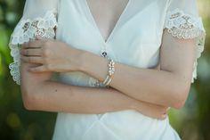 wedding Bracelet  Wedding Jewelry swarovski Bridal by Ayajewellery