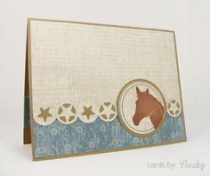HYCCT1325 I'm All Ears My Favorite Things MyFavoriteThings MFT Stamp Horse Die Die-Namics (Card Front) Blog: www.CardsByBecky.blogspot.com