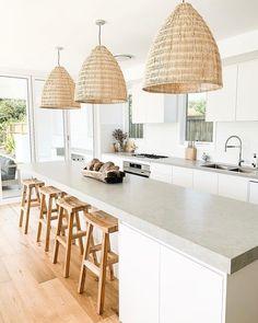 Concrete Matte > Quantum Quartz > Quantum Quartz, Natural Stone Australia, Kitchen B Interior Modern, Home Interior, Interior Design Kitchen, Interior Livingroom, Home Decor Kitchen, Kitchen Living, Home Kitchens, French Kitchens, Living Rooms