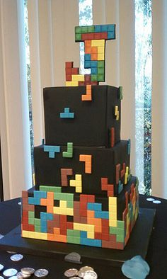 #KatieSheaDesign ♡❤ ❥ Tetris Cake
