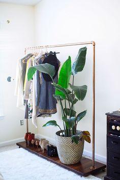 DIY Garment Rack with Instructions www.inhonorofdesign.com