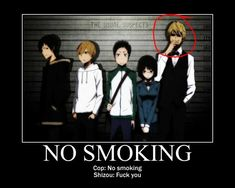Shizuo No Smoking by KittyNekoVikki.deviantart.com on @deviantART   LOL