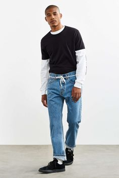Levis 505 Light Stonewash Slim Jean - Urban Outfitters || Follow @filetlondon for more street style #filetclothing