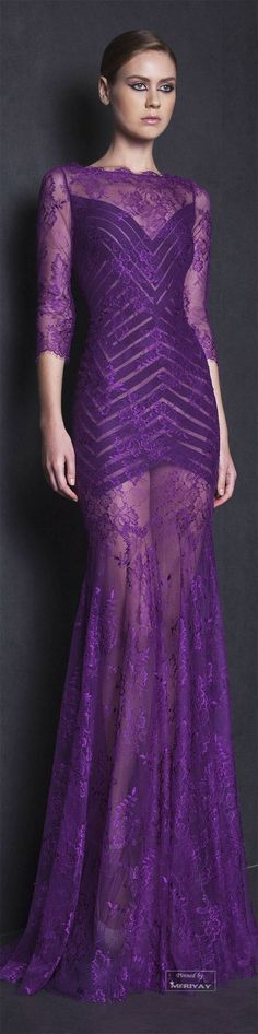 Tony Ward Spring--Summer Beautiful purple gowns - needs a slip but otherwise lovely dress Tony Ward, Purple Gowns, Purple Dress, Beautiful Gowns, Beautiful Outfits, Mode Purple, Spring Summer, Summer 2015, Spring 2015