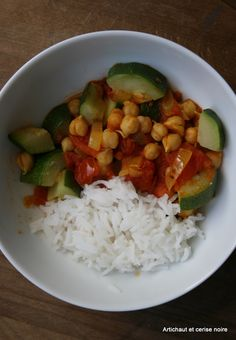 Pois chiches, courgettes et tomates