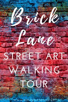 Brick Lane Street Art Walking Tour - this self-guided walking tour explores the street art along Brick Lane and the surrounding side streets in East London London Street, London City, Amazing Street Art, Brick Lane, Art Walk, Famous Landmarks, Top Destinations, Holiday Activities, City Break