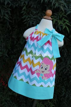 Cute Molly dress  Etsy listing at http://www.etsy.com/listing/152585528/adorable-bubble-guppies-molly-pillowcase