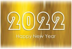 Free Happy New Year 2022 Golden Background