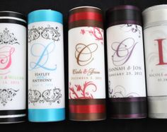 {{Please READ Description before purchasing}}  _______________________________________________    This Wedding Unity Candle SET comes with the following:    --9 Center white pillar candle wrapped in vellum paper with YOUR INFO (you choose colors for fonts and graphics)  --2 10 side taper candles --Up to 2 ribbon colors of your choice(I only use good quality satin ribbon)  --Real swarovski crystals  --Candle comes fully assembled  --First NAME Initials on side taper candles    If you like…