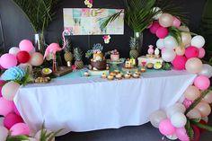 Tropical dessert spread from a 40th Birthday Tropical Soiree on Kara's Party Ideas | KarasPartyIdeas.com (15)