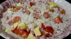 Ensalada de arroz y tortilla - Receta Fácil