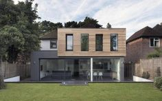 Glass and Timber Addition to a Hampshire House by AR Design Studio in Architecture Wood Cladding Exterior, House Cladding, Timber Cladding, Black Cladding, Winchester Homes, Winchester Hampshire, Hampshire House, Hampshire England, Casas Containers