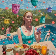 Alex Gross (1968) es un artista visual que trabaja actualmente en Los Angeles, California. Se especializa en pinturas al óleo sobre lienzo cuyos temas incluyen la globalización, el comercio, la gran belleza, el caos oscuro, y el implacable paso del tiempo.