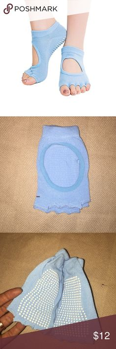 Blue Pilates Yoga Socks BRAND NEW - NEVER BEEN WORN Blue toeless grip socks for Pilates or yoga. Accessories
