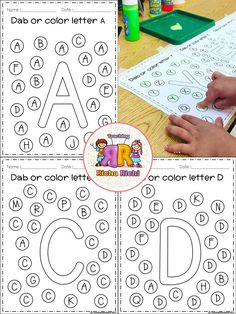 FREE Alphabet Dab (A-Z) Coronavirus Packet Distance Learning FREE Freebies Alphabet Dap A-Z 26 pages. For PreK and Kindergarten. Printable Alphabet Letters, Preschool Letters, Alphabet Worksheets, Preschool Worksheets, Handwriting Worksheets, Toddler Learning, Preschool Learning, Early Learning, Preschool Activities