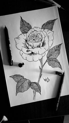 #rose #tattoo #blackwork #blackworkers #blackandwhite #tattoos #tatuagem #rosa