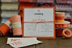 Paper Flourish: Orange Wedding Invitation