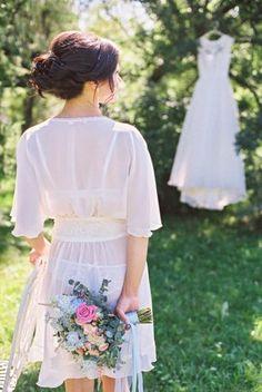 Утро невесты на природе