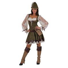 Pierro´s Kostüm Lady Marian Robin Hood Damenkostüm Kleid Hut Gürtel mit Tasche Beinstulpen Größe 36 38 40 42 44 46 48 50 für Karneval, Fasching, Halloween, Motto Party / Abenteuer, Geschichten: Amazon.de: Spielzeug