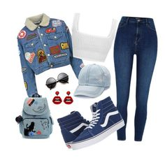 """"""""""" by mirka-smalova on Polyvore featuring GCDS, River Island, Vans, Kipling, Mudd and sweet deluxe"""