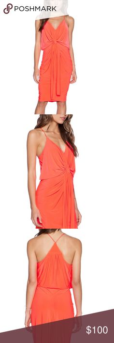 T bags NWT domino dress Wow!!!!!!! NWT brand spankin new T bags(now Misa) fabulous bright coral dress!  Sold out online.. paid 180.00 but will give this baby up for 100$ t bags Dresses Midi