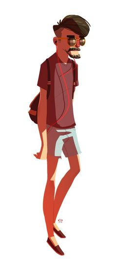 stuff. (by ido yehimovitz) hipster illustration character