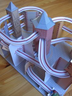 I built this paper roller coaster while creating the instruction ...