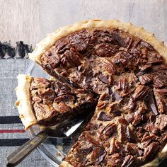Ultimate Chocolate Chunk Pecan Pie Recipe -Our family hosts an annual barn party for our close friends, complete with a pie cook-off. A few years ago, this recipe won first prize! —Janice Schneider, Kansas City, Missouri