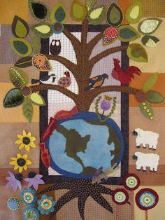 felt folk art quilt