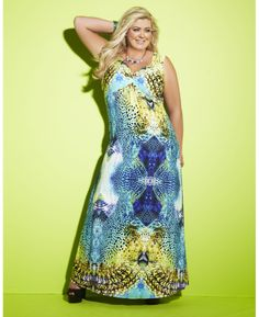 """""""Gemma Collins"""" Gemma Collins Blue Printed Maxi Dress at Simply Be"""