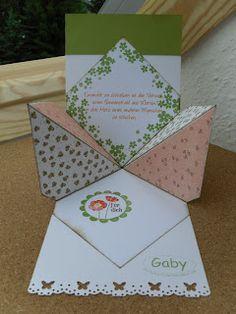 erziArt: Geheimnis-Lüftung - interesting paper folded card