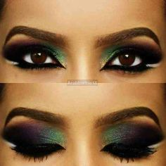 Multicolor blend, love this exotic look! Perfect for a night out!