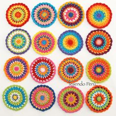 #Crochet: mini #mandala! Video tutorial del paso a paso :)