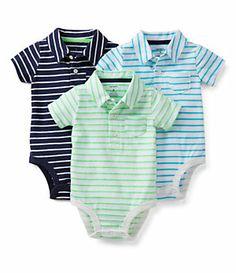 Carter´s Newborn-24 Months Striped Bodysuit 3-Pack | Dillard's Mobile