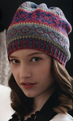 Slouchy Fair Isle Hat by Sheila Joynes