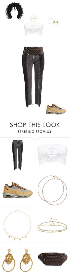 """Untitled #241"" by dastylez ❤ liked on Polyvore featuring Boohoo, NIKE, Wet Seal, Frasier Sterling, ASOS, Ela Stone and Louis Vuitton"