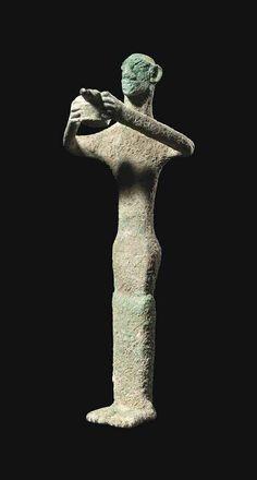 Copper votive figure. Elamite, c. late 3rd - early 2nd millennium B.C.  | Christie's