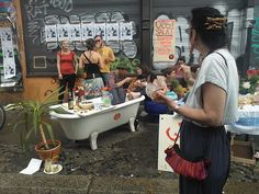 hipsters in kreuzberg during may day