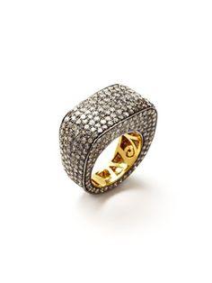 Blake Scott Rounded Square Pave Diamond Ring