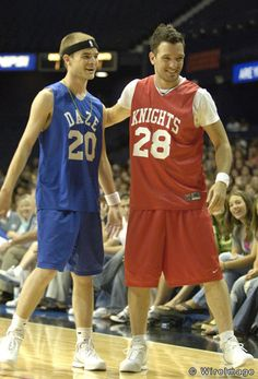 David Gallagher (aka Simon Camden) and JC Chasez *NSYNC's Challenge for the Children VII