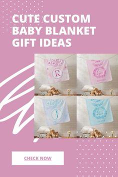 Custom Baby Blanket Gift Ideas #babyshowerideas #babygift #customgifts #printondemand #zazzle Baby Products, Customized Gifts, Baby Gifts, Gift Ideas, Blankets, Cute, Pregnancy, Design, Personalized Gifts