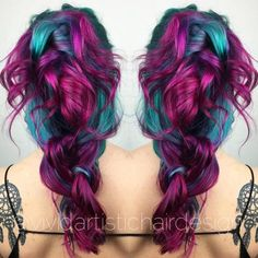 Magenta-HaarFarbe-magenta-and-teal-hair-color