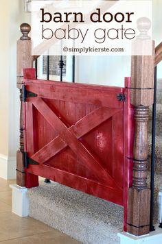 Barn Door Baby Gate. Style, not necessarily the color. #babystuff