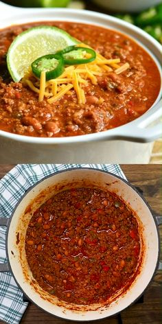 The BEST Chili Recipe with a VIDEO. This is an amazing chili made with bacon gro. The BEST Chili Recipe with a VIDEO. This is an amazing chili made with bacon ground beef vegetables Chili Recipe Video, Beef Chili Recipe, Chilli Recipes, Easy Soup Recipes, Bean Recipes, Easy Healthy Recipes, Easy Dinner Recipes, Mexican Food Recipes, Cooking Recipes