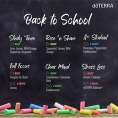 Back to school essential oil diffuser blends for kids and teachers using doTERRA oils #diffuse #kids #teachers #back2school